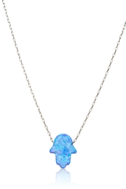Alefbet Opal Hamsa Necklace - Front cropped