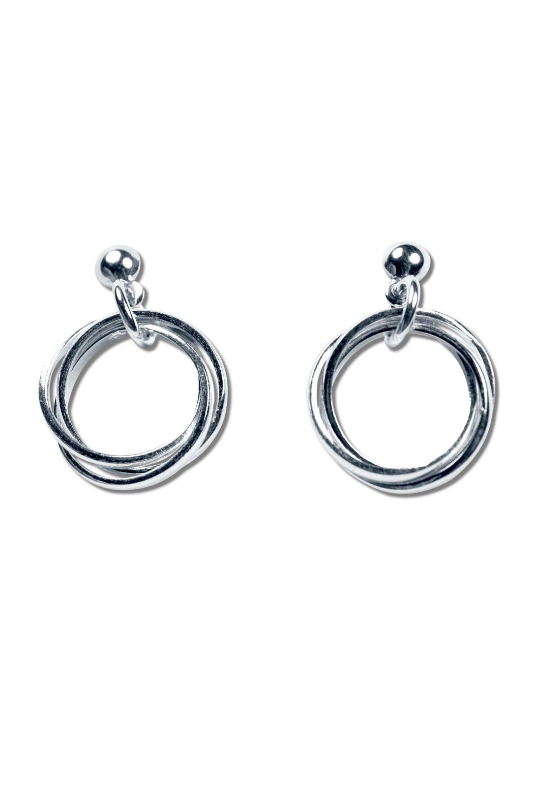 Alejandro Brito 3 Rings Earrings - Front Cropped Image