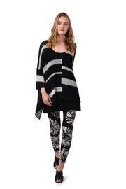 Alembika Black & White Handknit Sweater - Front cropped