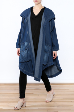 Shoptiques Product: Denim Hoody Jacket