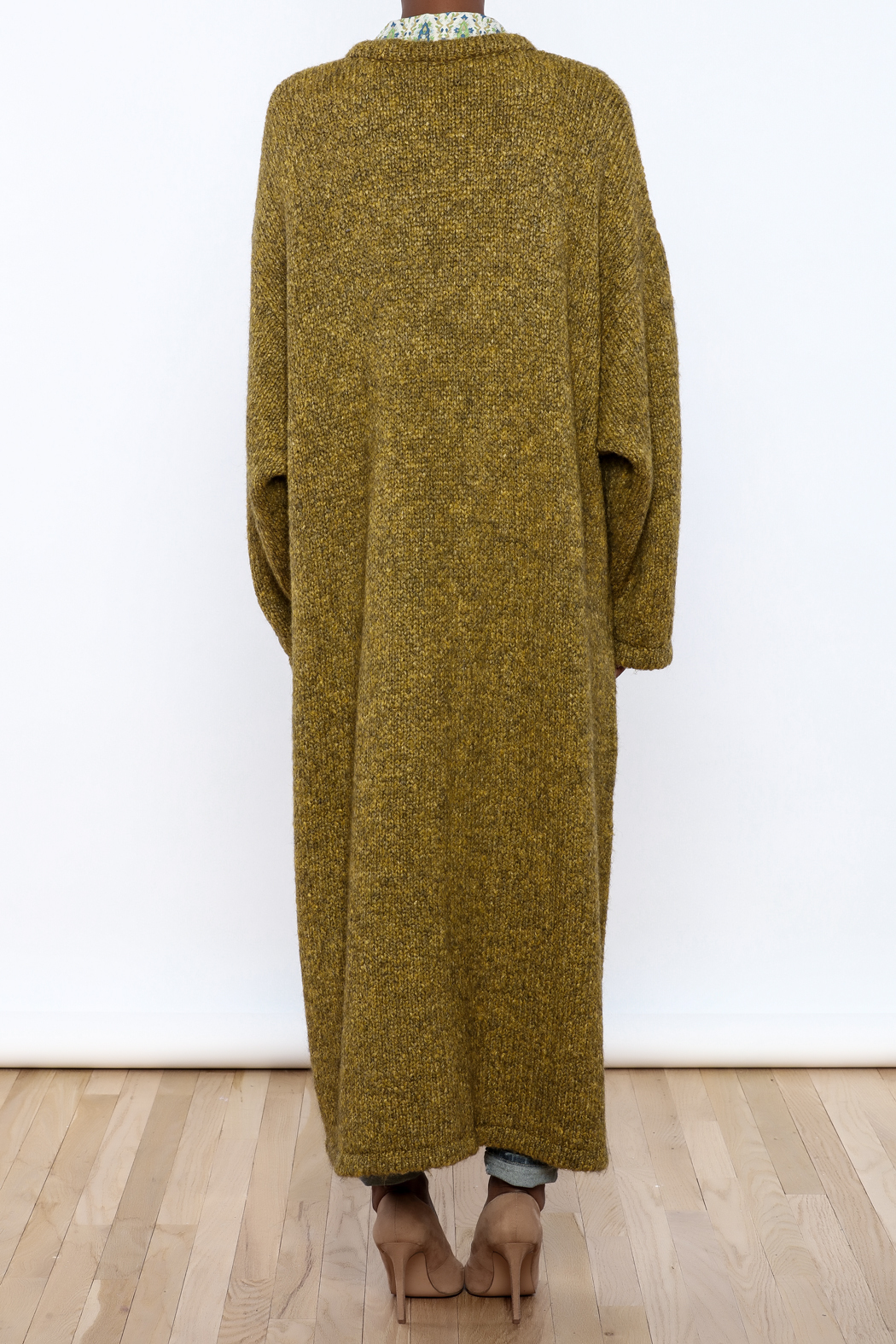 Alembika Oversized  Sweater Coat - Back Cropped Image