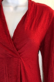 Alembika Red Vneck Tunic - Front full body
