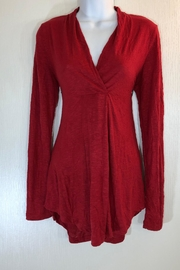 Alembika Red Vneck Tunic - Front cropped