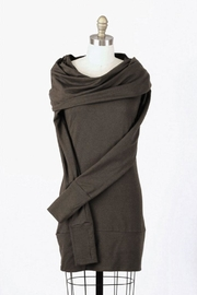 Alena Cotton/modal Cowlneck Tunic - Front cropped