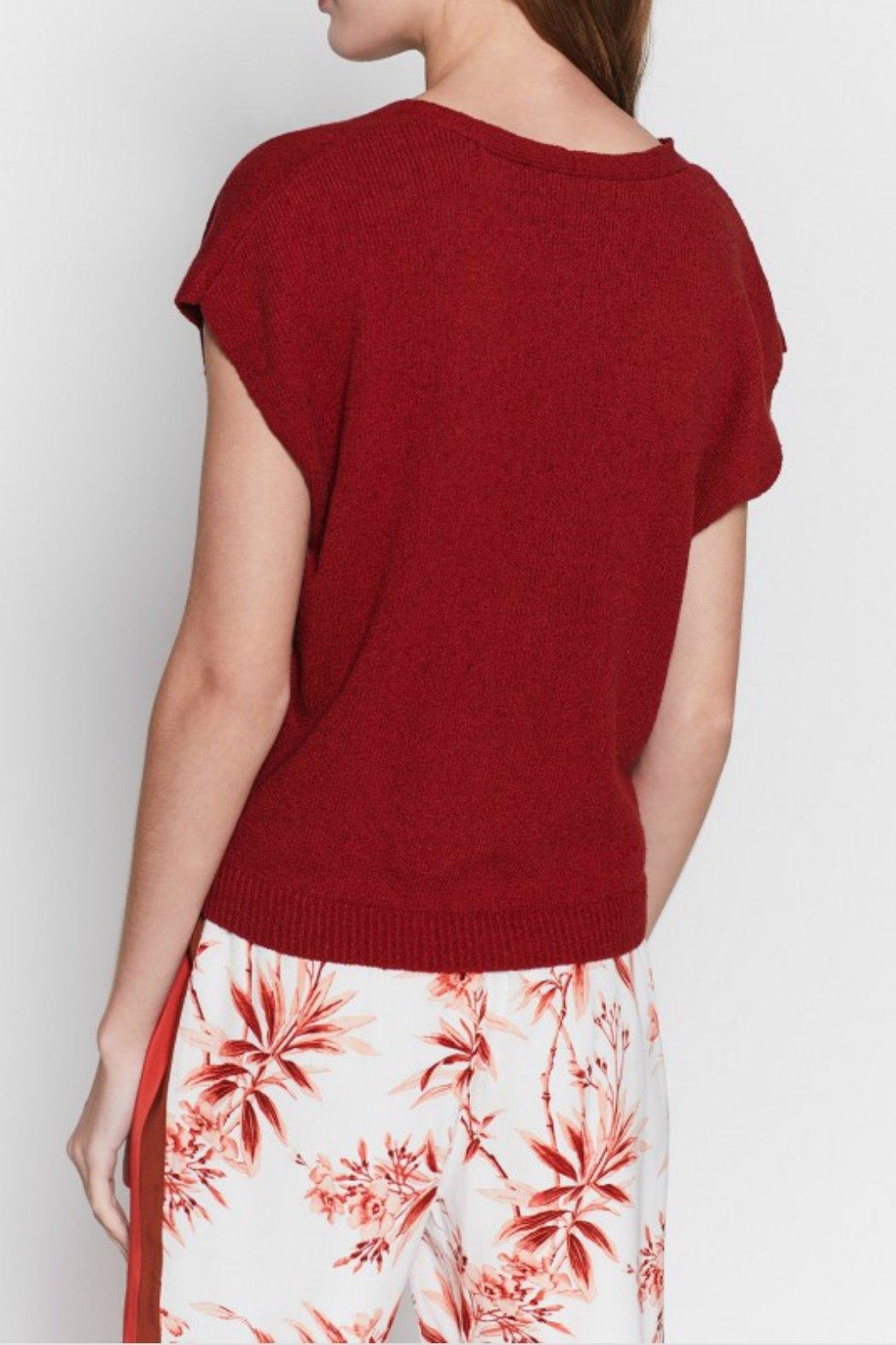 Joie Alenah Cap-Sleeve Sweater - Back Cropped Image