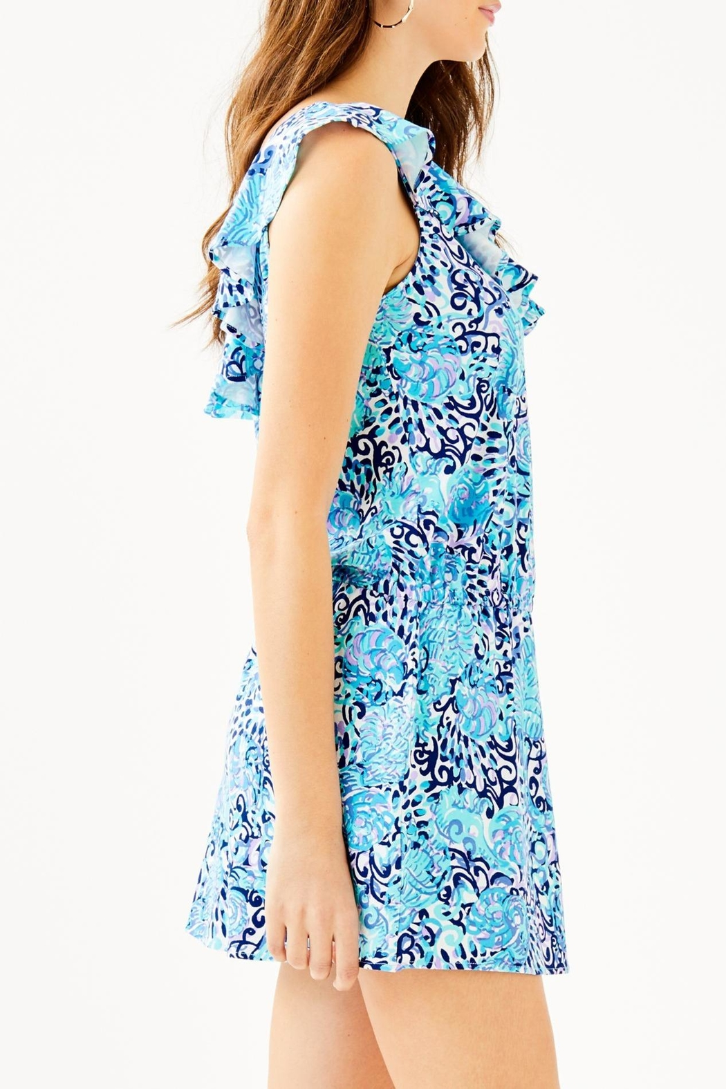 Lilly Pulitzer Alessa Romper - Side Cropped Image
