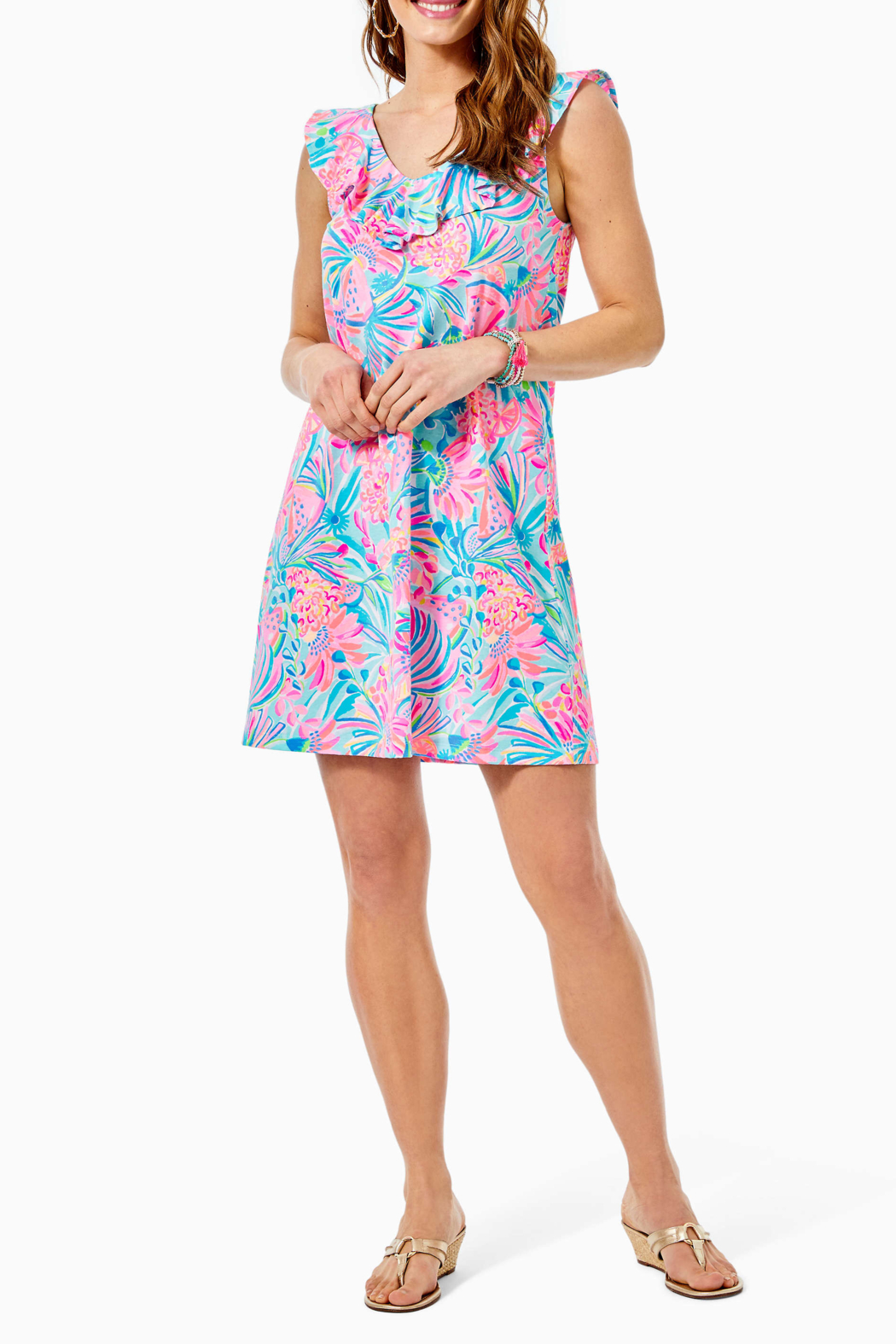 Lilly Pulitzer  Alessa Swing Dress - Back Cropped Image