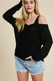 Wishlist Alessandra Cold Shoulder Sweater - Product Mini Image