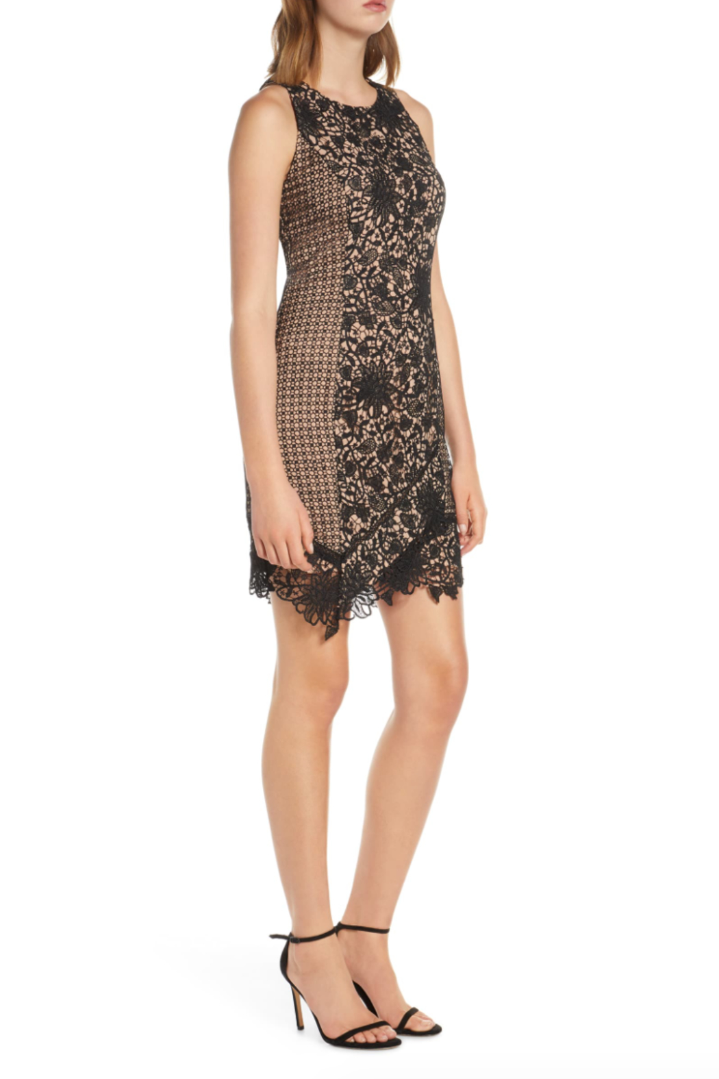 Adelyn Rae Alessia Lace Dress - Side Cropped Image