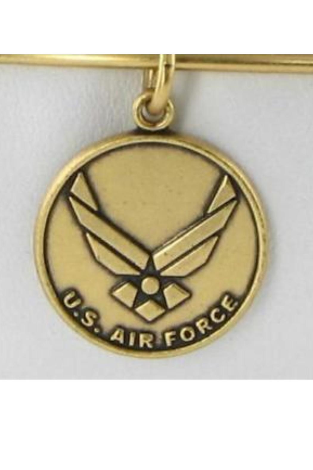 """Alex and Ani Alex And Ani """"U.S. Air Force"""" Expandable Bangle - Front Cropped Image"""