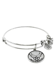"""Alex and Ani Alex And Ani """"U.S. Air Force"""" Expandable Bangle - Front cropped"""