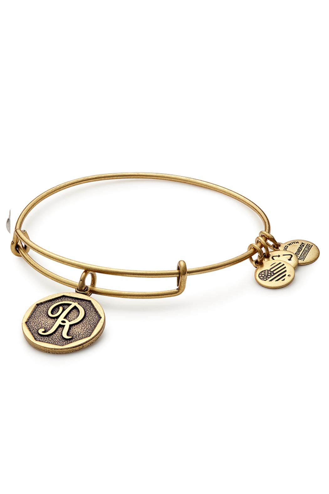 "Alex and Ani Alex And Ani Initial ""R"" Bracelet - Front Cropped Image"