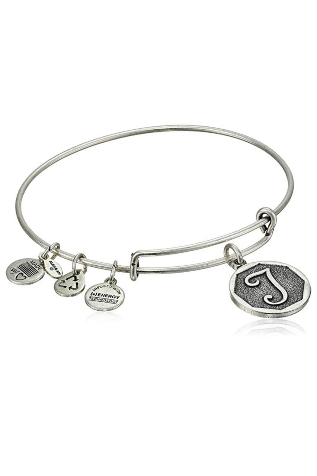 """Alex and Ani Alex And Ani Initial """"T"""" Bracelet - Front Cropped Image"""