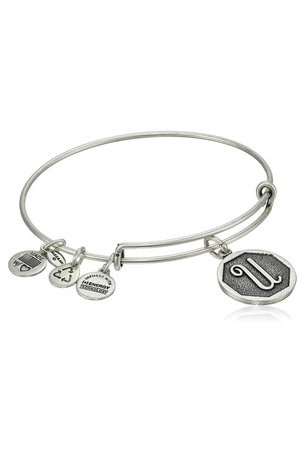 "Alex and Ani Alex And Ani Initial ""U"" Bracelet - Front Cropped Image"