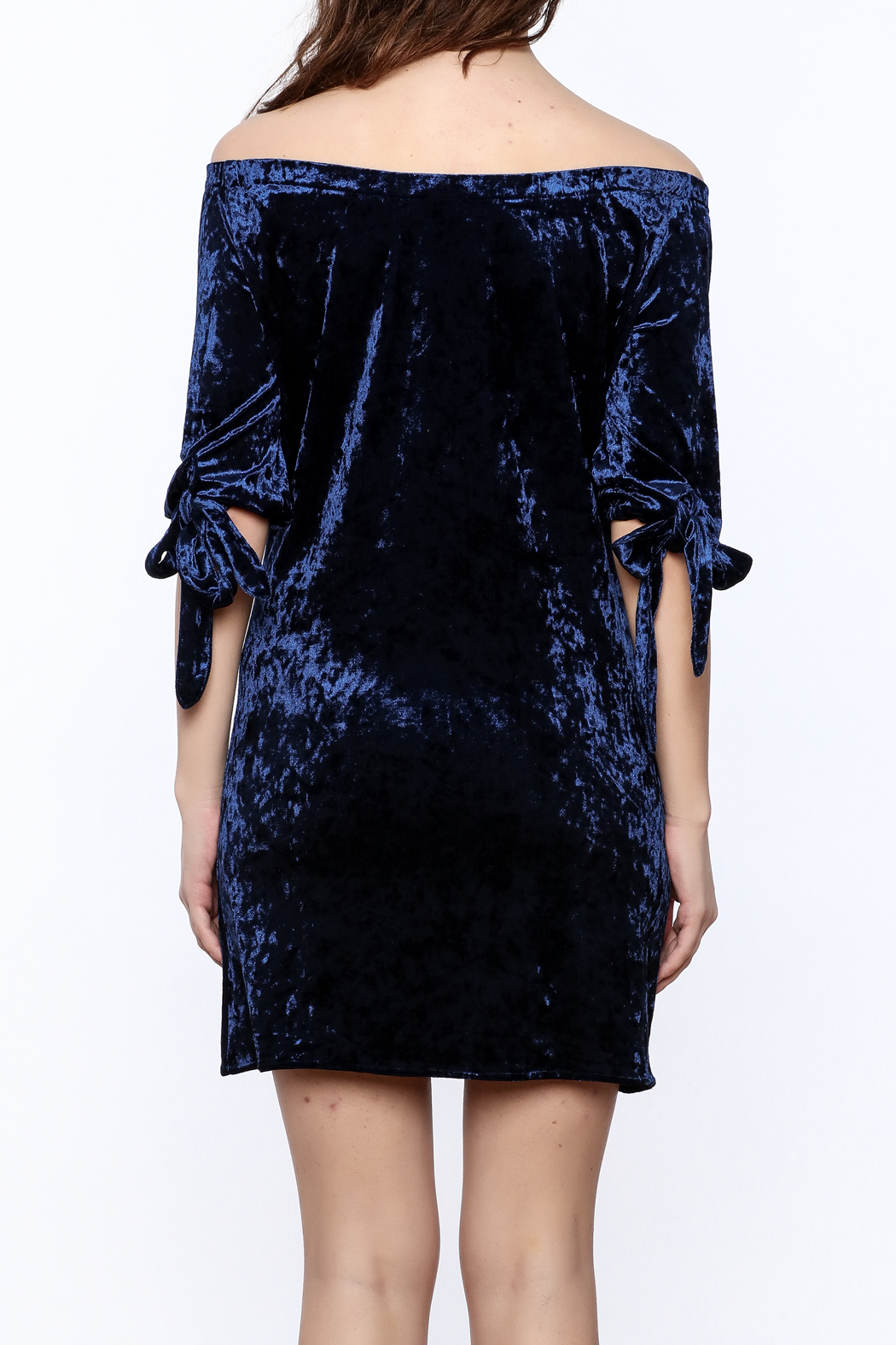 alex raw blue velvet dress from texas shoptiques. Black Bedroom Furniture Sets. Home Design Ideas