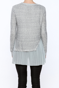 Shoptiques Product: Light Gray Pleated Sweater