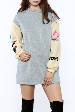 Shoptiques Product: Patched Fun Sweater Dress