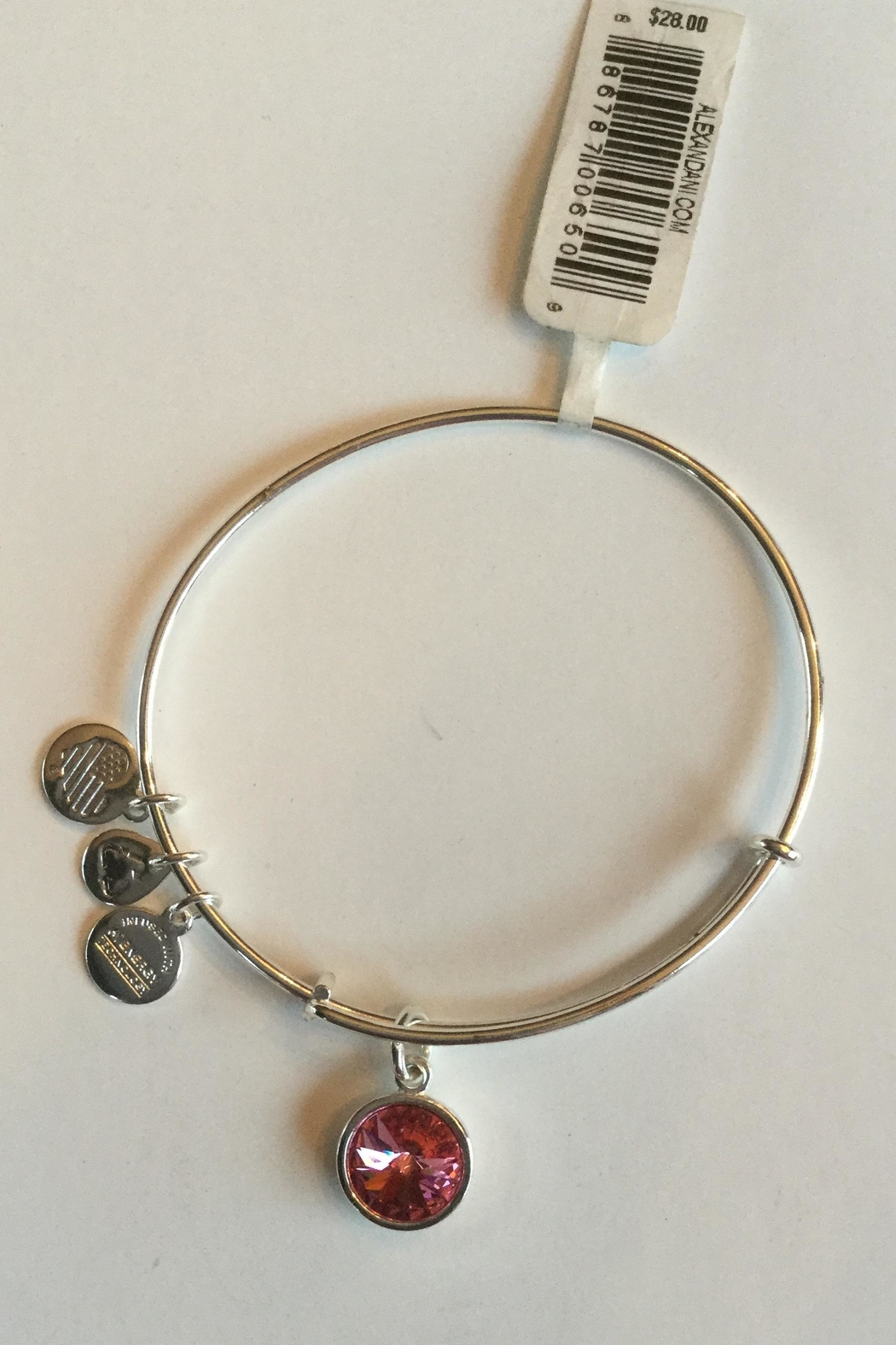 """Alex and Ani Alex And Ani Birthstone """"October"""" Expandable Bangle - Front Cropped Image"""