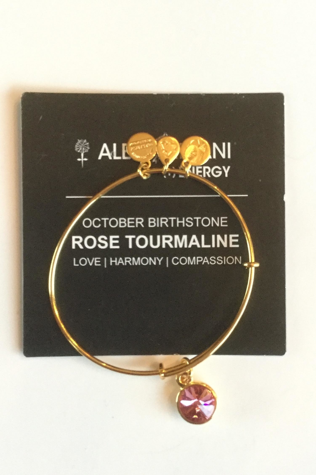 """Alex and Ani Alex And Ani Birthstone """"October"""" Expandable Bangle - Front Full Image"""
