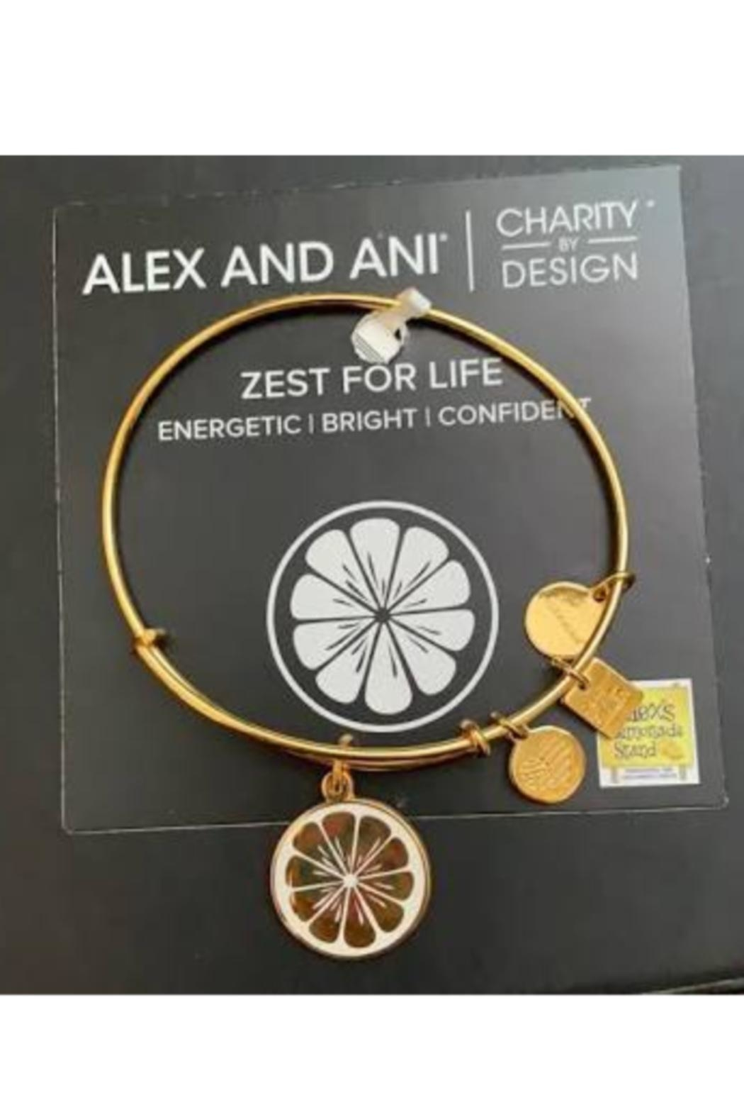 """Alex and Ani Alex And Ani Charity Pediatric Cancer Research """"Zest For Life"""" Bangle - Front Full Image"""