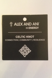 "Alex and Ani Alex And Ani Charity ""Celtic Knot"" Expandable Bangle - Front full body"