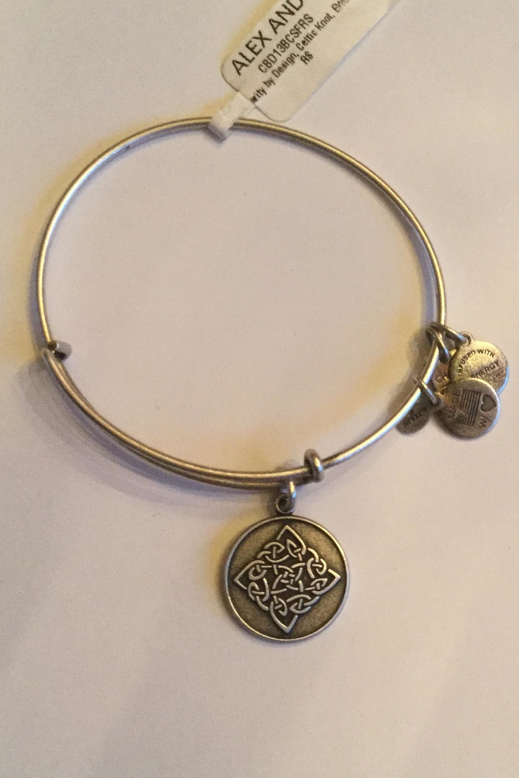 "Alex and Ani Alex And Ani Charity ""Celtic Knot"" Expandable Bangle - Main Image"