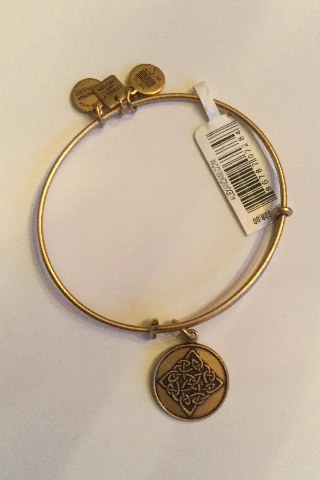 "Alex and Ani Alex And Ani Charity ""Celtic Knot"" Expandable Bangle - Front Cropped Image"