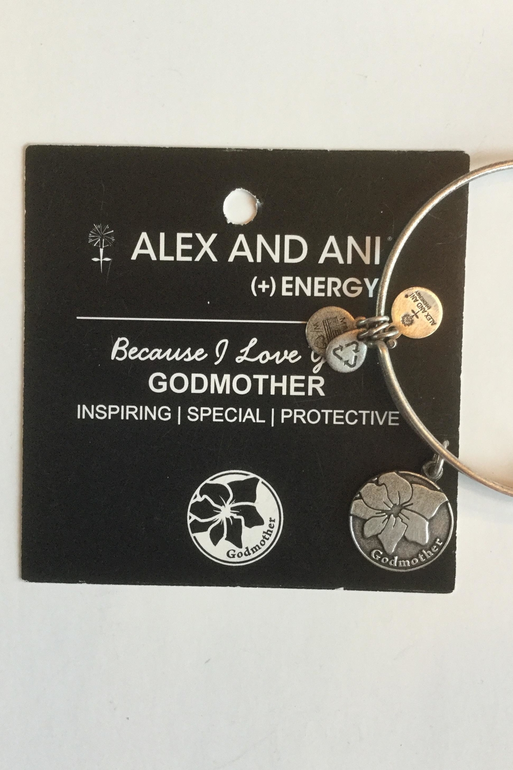"Alex and Ani Alex And Ani ""Godmother"" Expandable Bangle - Back Cropped Image"