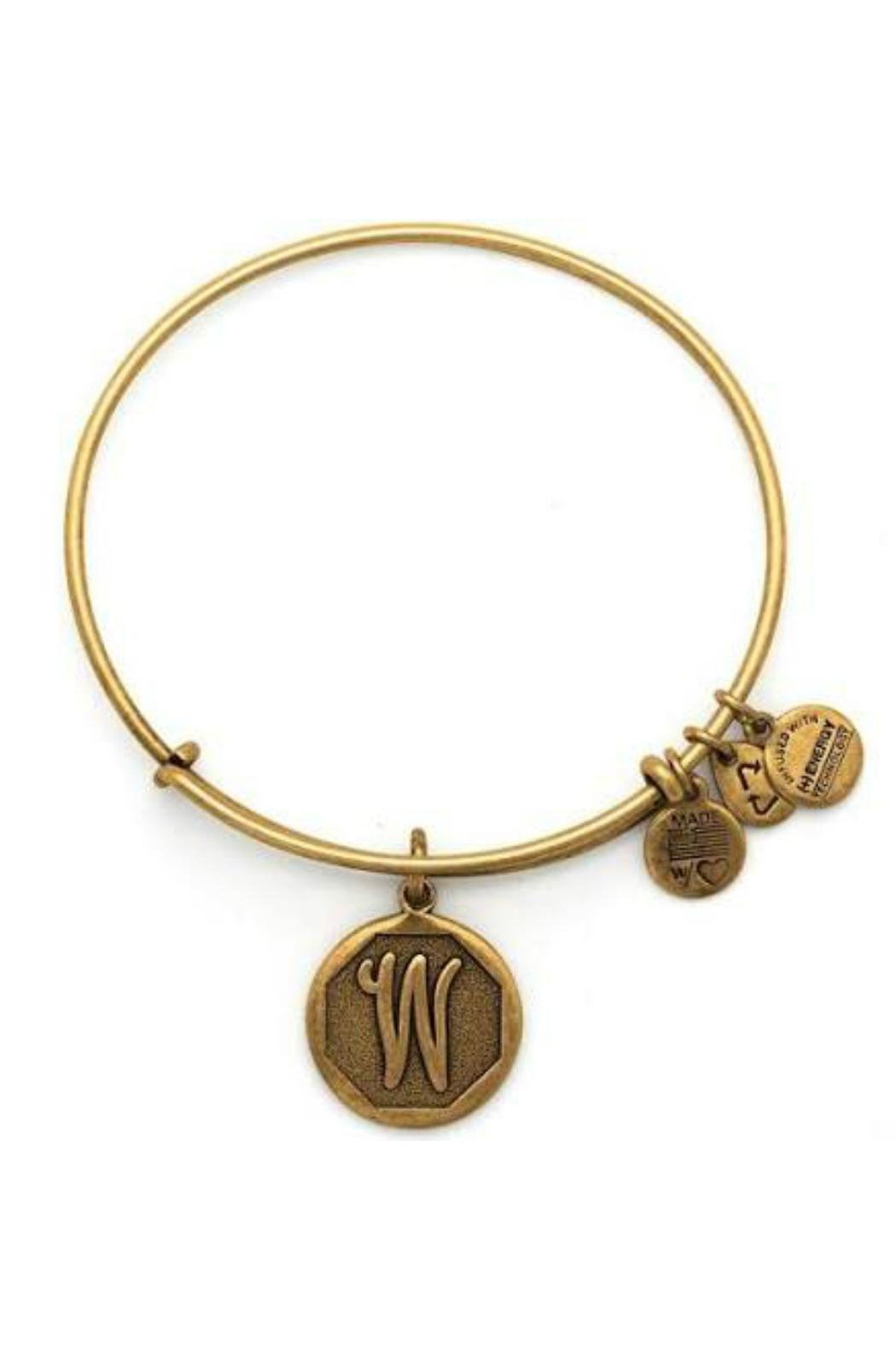 """Alex and Ani Alex And Ani Initial """"W"""" Bracelet - Front Cropped Image"""