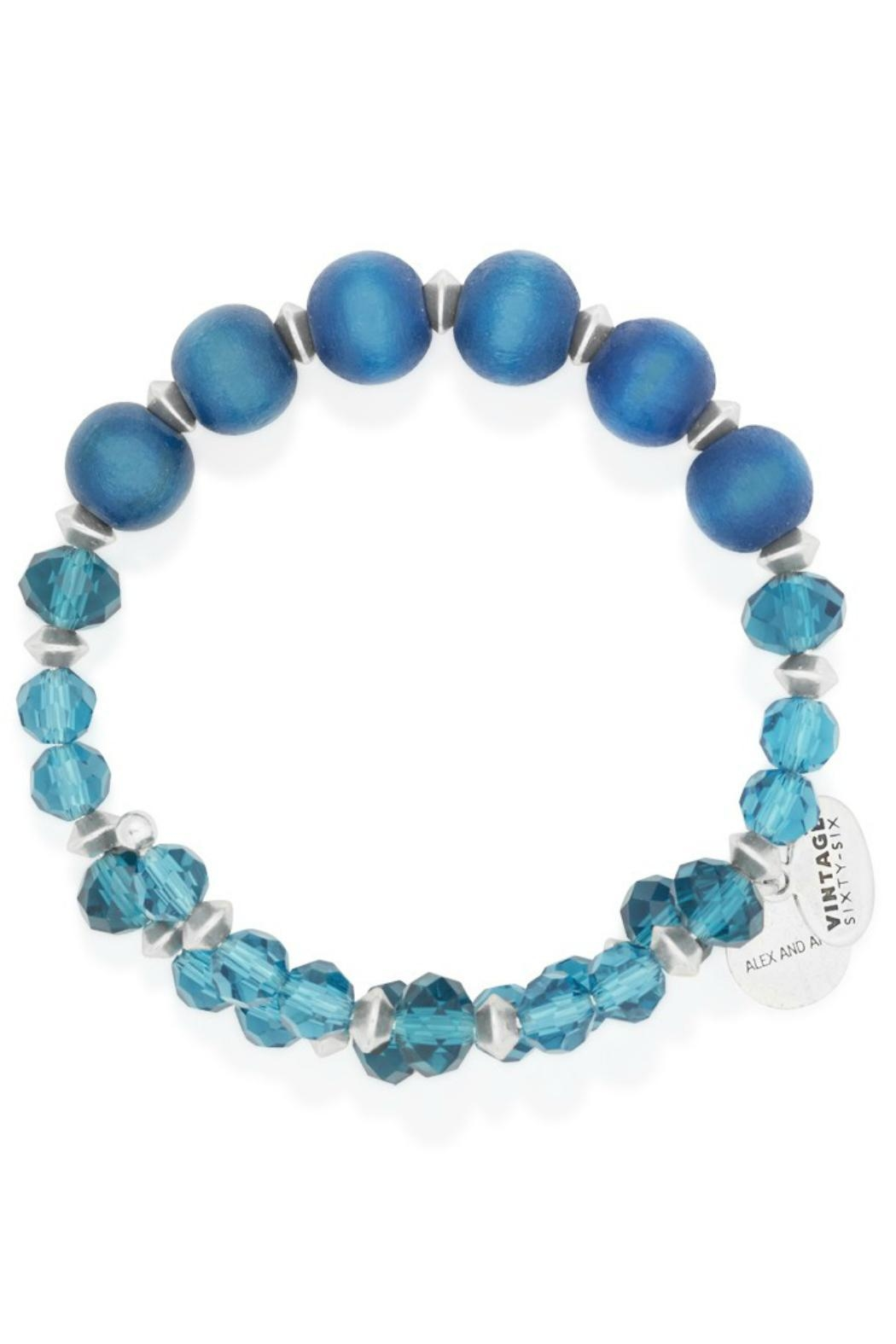 Alex and Ani Alex And Ani Cerulean Enigma Wrap - Front Cropped Image