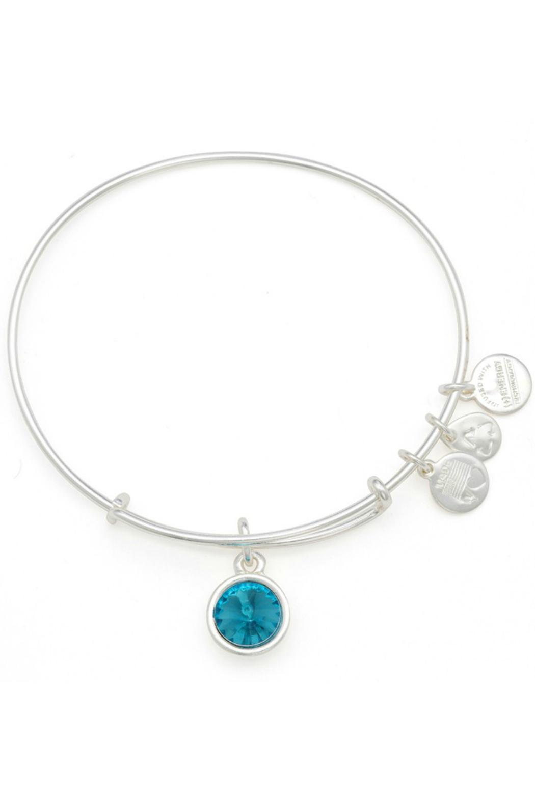 """Alex and Ani Alex And Ani Birthstone """"December"""" Expandable Bangle - Front Cropped Image"""