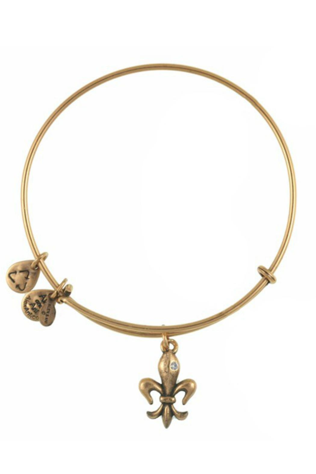 "Alex and Ani Alex And Ani ""French Royalty Fleur De Lis"" Bracelet - Front Cropped Image"