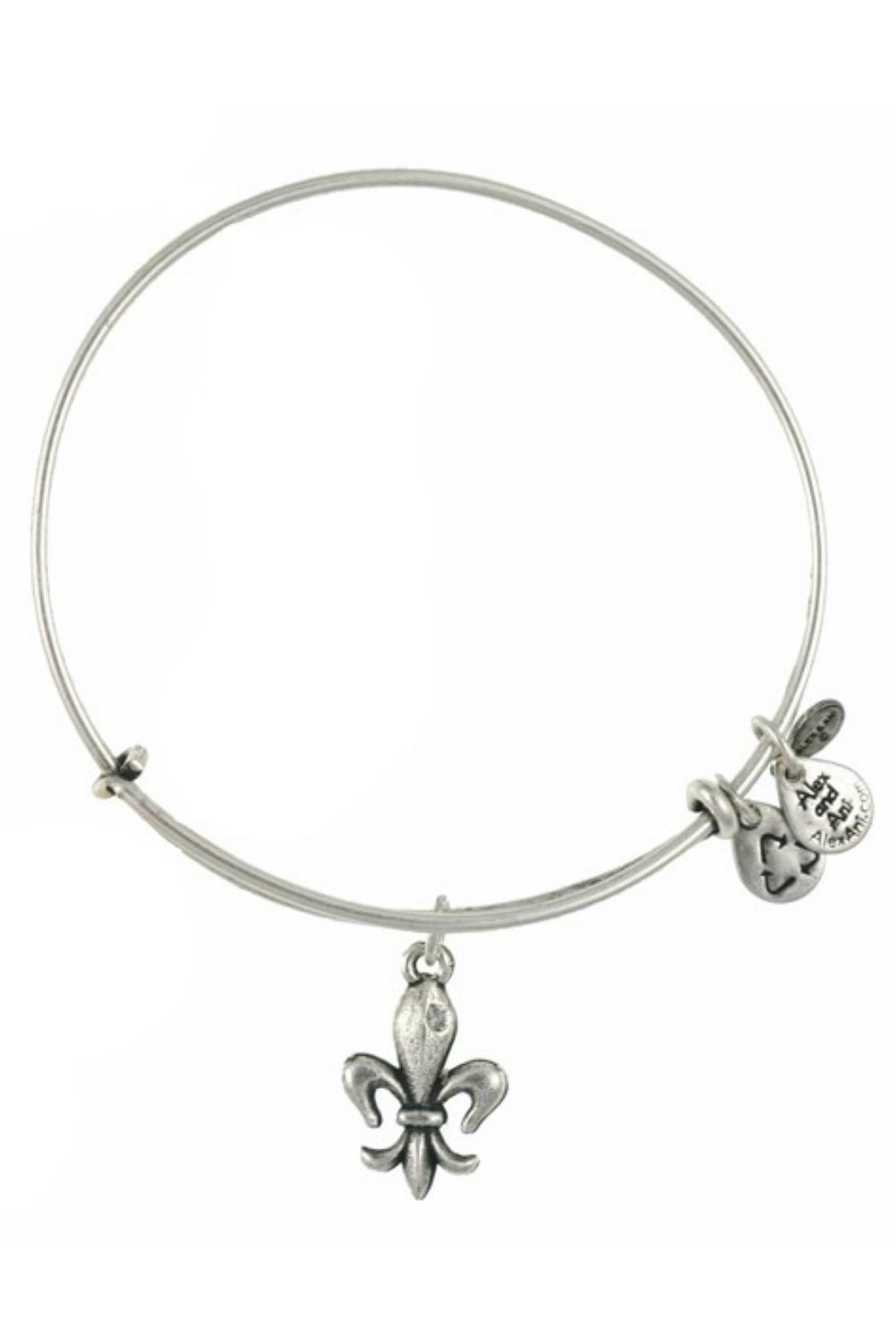 Alex and Ani Fleur De Lis Bangle - Front Cropped Image