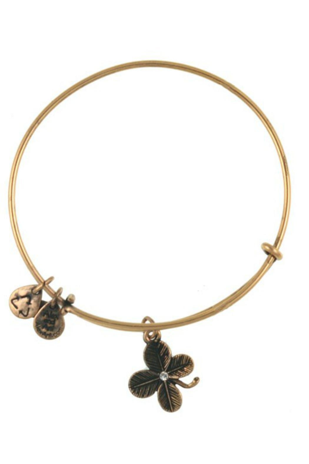 """Alex and Ani Alex And Ani """"Lucky Clover"""" Expandable Bangle - Front Cropped Image"""