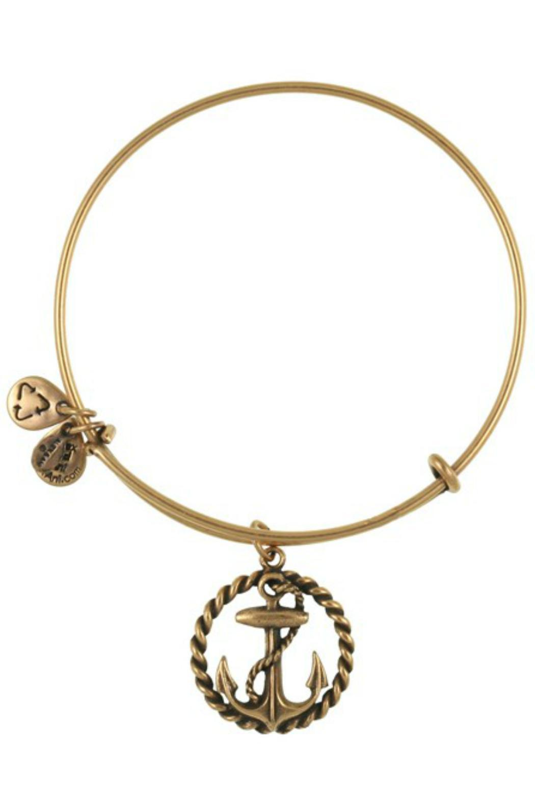 Alex and Ani Nautical Anchor Bangle - Front Cropped Image