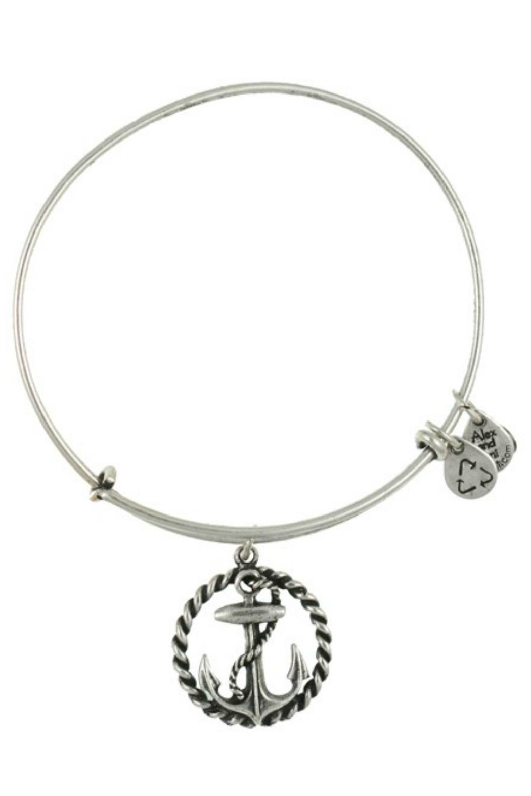 Alex and Ani Nautical Anchor Bangle - Side Cropped Image