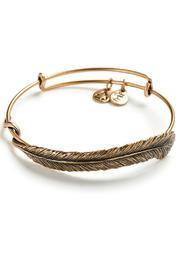 Alex and Ani Plume Feather Wrap - Front cropped