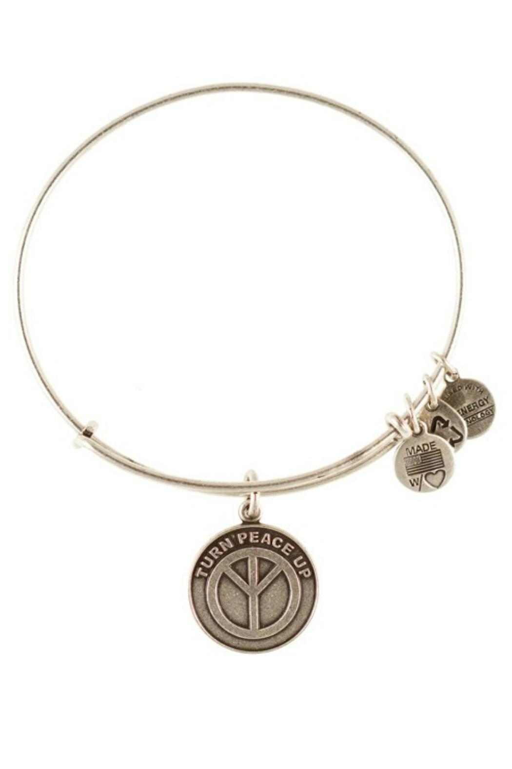 "Alex and Ani Alex And Ani ""Turn Peace Up"" Bracelet - Front Cropped Image"