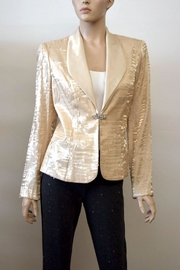 Alex Evenings Gold Blazer Jacket - Product Mini Image