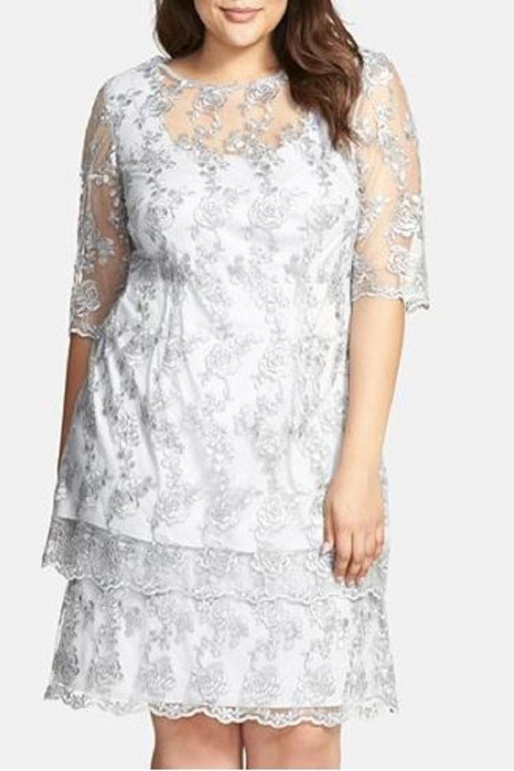 Alex evenings silver lace dress from minnesota by affairs for Plus size wedding dresses minneapolis mn
