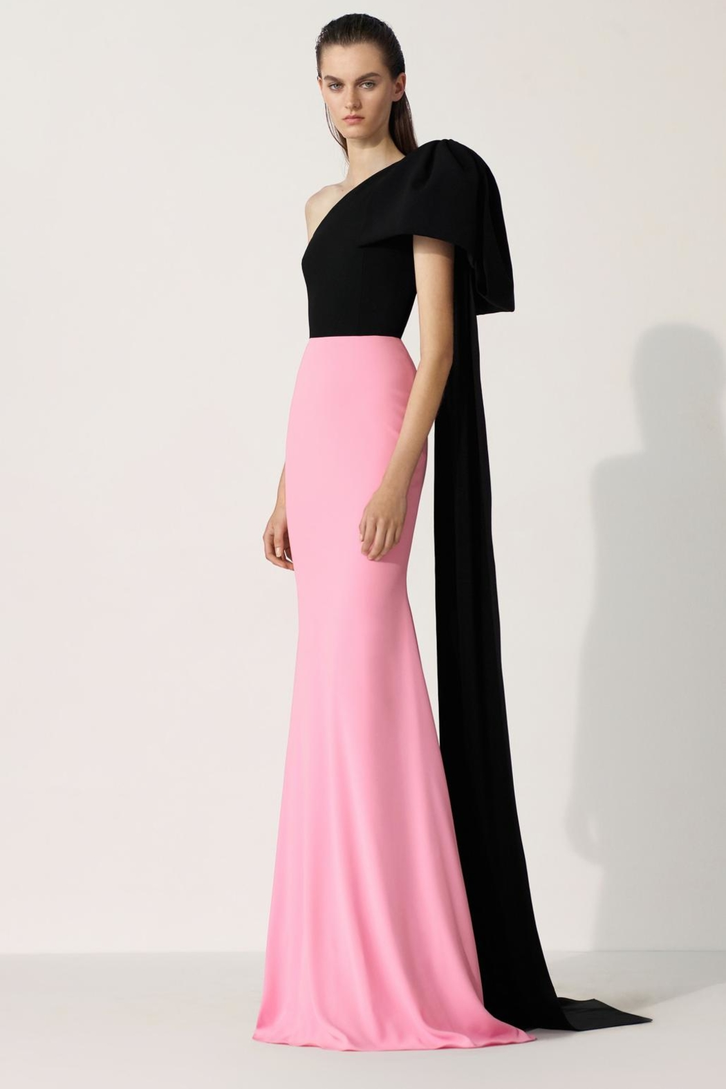 Alex Perry Anderson-Crepe Two-Tone Gown - Main Image