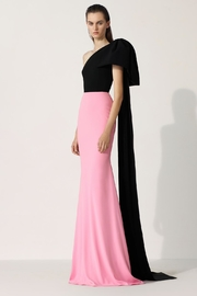 Alex Perry Anderson-Crepe Two-Tone Gown - Front cropped