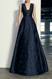 Alex Perry Bryce Brocade Gown - Front cropped