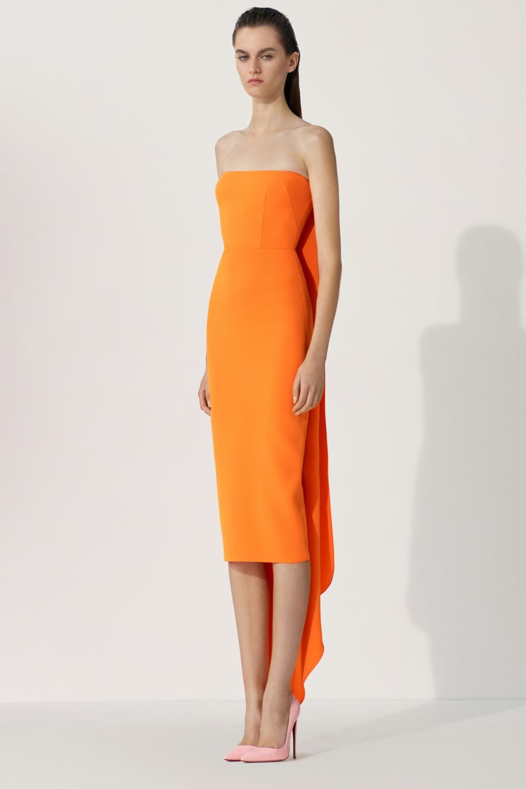 Alex Perry Hall-Strapless Crepe Midi Dress - Main Image