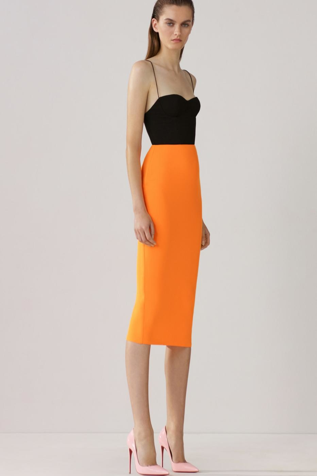 Alex Perry Lee-Crepe Two-Tone Dress - Main Image