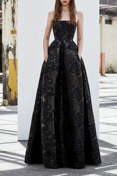 Alex Perry Lurex Jacquard Gown - Alternate List Image