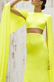 Alex Perry Neon Pleated Gown - Product Mini Image