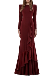 Alex Perry Ruffle Trumpet Gown - Product Mini Image