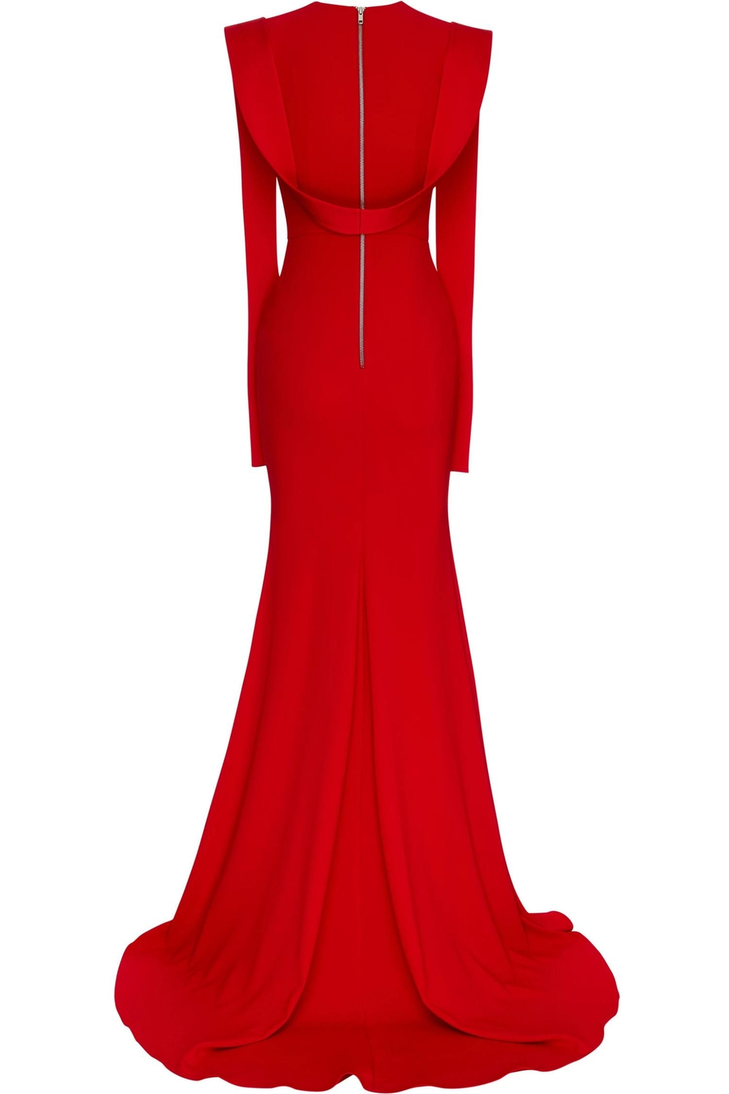 Alex Perry Satin Draped Gown - Side Cropped Image