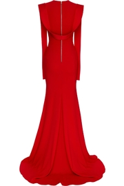 Alex Perry Satin Draped Gown - Side cropped